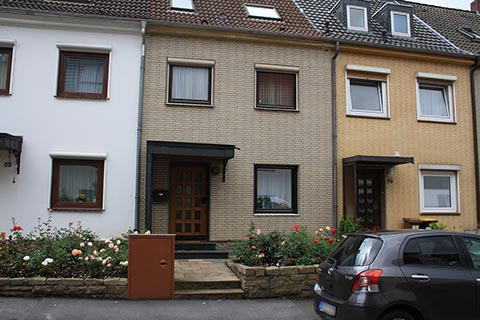 Row middle house in Dortmund